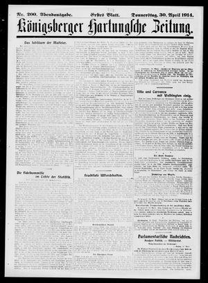Königsberger Hartungsche Zeitung on Apr 30, 1914