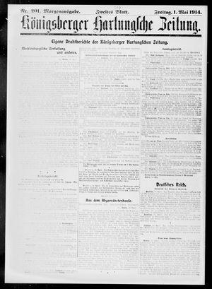 Königsberger Hartungsche Zeitung vom 01.05.1914