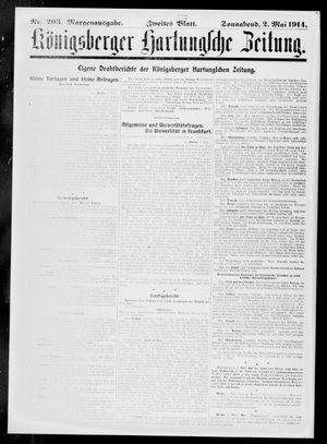 Königsberger Hartungsche Zeitung vom 02.05.1914