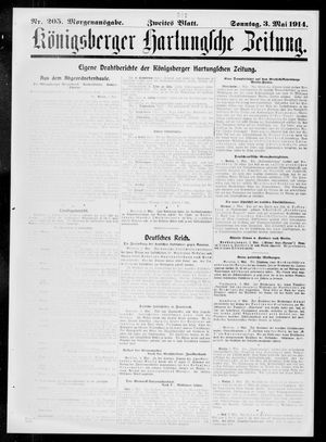 Königsberger Hartungsche Zeitung vom 03.05.1914