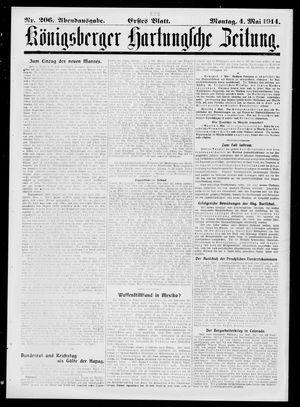 Königsberger Hartungsche Zeitung vom 04.05.1914