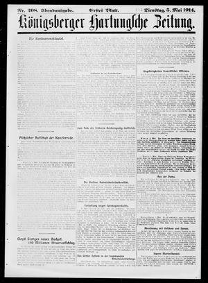 Königsberger Hartungsche Zeitung vom 05.05.1914