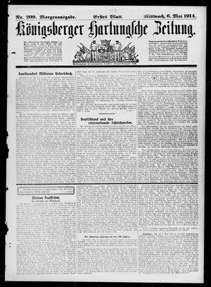Königsberger Hartungsche Zeitung vom 06.05.1914