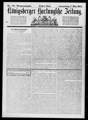 Königsberger Hartungsche Zeitung vom 07.05.1914