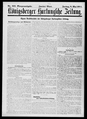 Königsberger Hartungsche Zeitung vom 08.05.1914