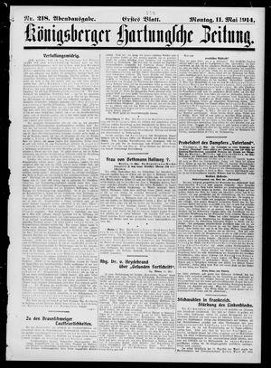 Königsberger Hartungsche Zeitung vom 11.05.1914