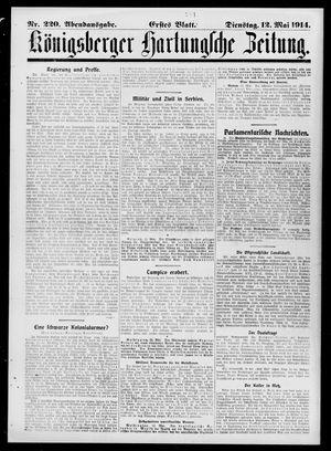 Königsberger Hartungsche Zeitung vom 12.05.1914