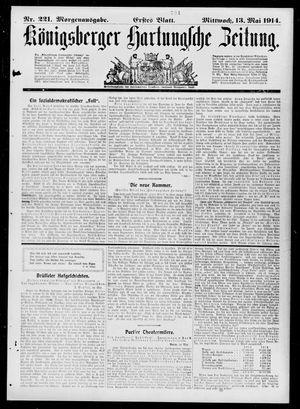 Königsberger Hartungsche Zeitung vom 13.05.1914