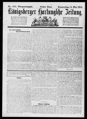 Königsberger Hartungsche Zeitung vom 14.05.1914