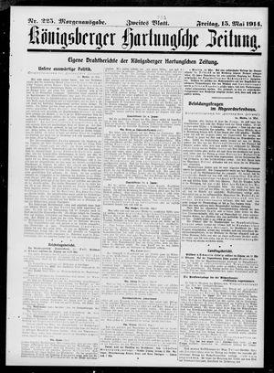 Königsberger Hartungsche Zeitung vom 15.05.1914