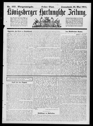 Königsberger Hartungsche Zeitung vom 16.05.1914