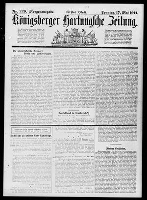 Königsberger Hartungsche Zeitung vom 17.05.1914