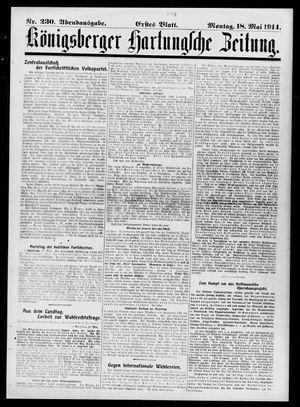Königsberger Hartungsche Zeitung vom 18.05.1914