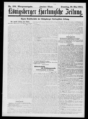 Königsberger Hartungsche Zeitung vom 19.05.1914