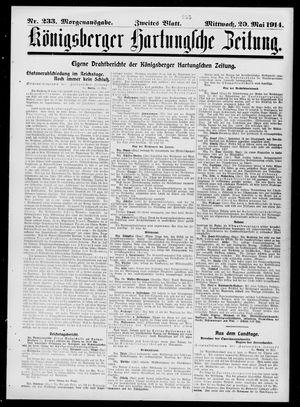 Königsberger Hartungsche Zeitung vom 20.05.1914