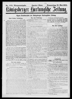 Königsberger Hartungsche Zeitung on May 21, 1914