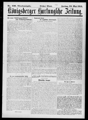 Königsberger Hartungsche Zeitung vom 22.05.1914