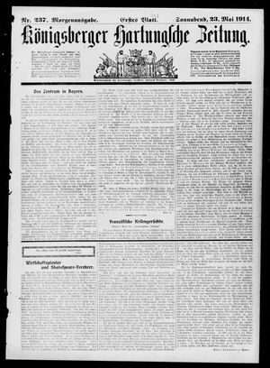 Königsberger Hartungsche Zeitung vom 23.05.1914