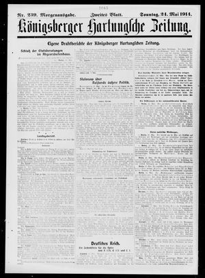 Königsberger Hartungsche Zeitung vom 24.05.1914