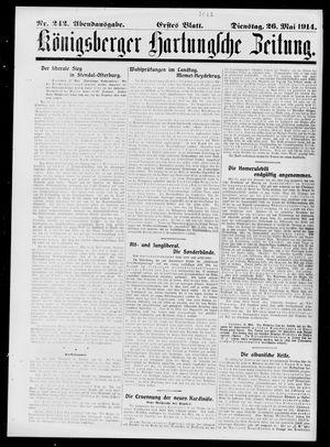 Königsberger Hartungsche Zeitung vom 26.05.1914