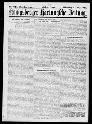Königsberger Hartungsche Zeitung vom 27.05.1914