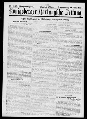 Königsberger Hartungsche Zeitung vom 28.05.1914