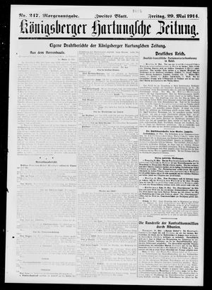 Königsberger Hartungsche Zeitung vom 29.05.1914