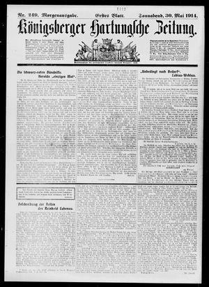 Königsberger Hartungsche Zeitung on May 30, 1914