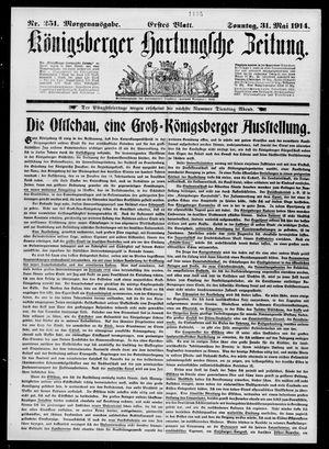 Königsberger Hartungsche Zeitung vom 31.05.1914