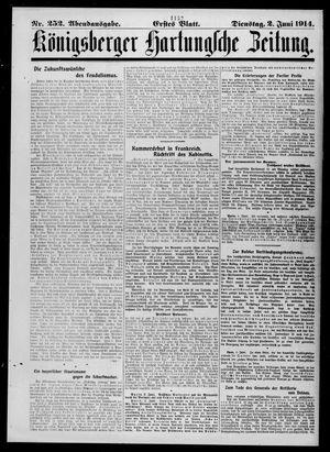 Königsberger Hartungsche Zeitung vom 02.06.1914
