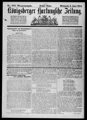 Königsberger Hartungsche Zeitung vom 03.06.1914