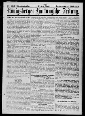 Königsberger Hartungsche Zeitung vom 04.06.1914