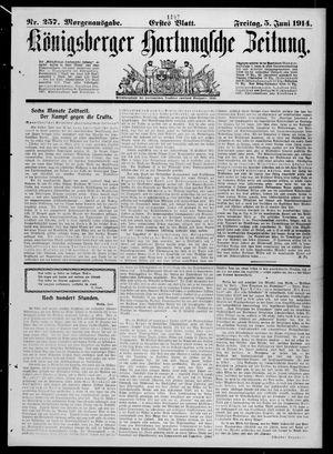 Königsberger Hartungsche Zeitung vom 05.06.1914