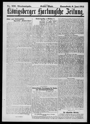 Königsberger Hartungsche Zeitung on Jun 6, 1914