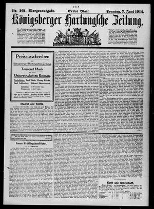 Königsberger Hartungsche Zeitung vom 07.06.1914