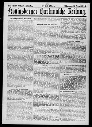 Königsberger Hartungsche Zeitung vom 08.06.1914