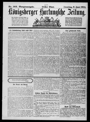 Königsberger Hartungsche Zeitung vom 09.06.1914