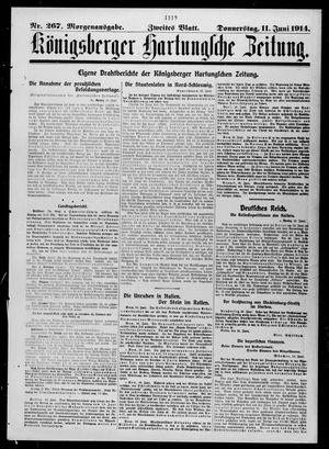 Königsberger Hartungsche Zeitung vom 11.06.1914