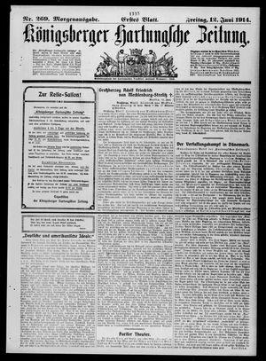 Königsberger Hartungsche Zeitung vom 12.06.1914