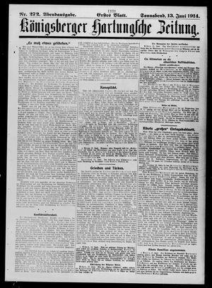 Königsberger Hartungsche Zeitung vom 13.06.1914
