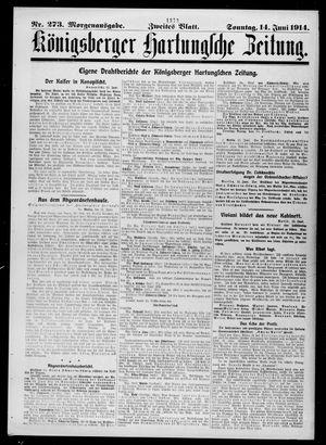 Königsberger Hartungsche Zeitung vom 14.06.1914