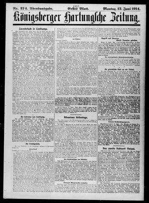 Königsberger Hartungsche Zeitung vom 15.06.1914