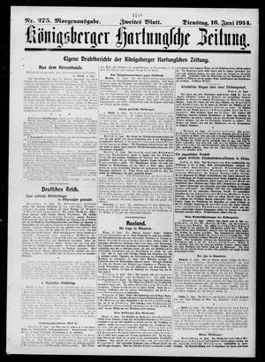 Königsberger Hartungsche Zeitung vom 16.06.1914