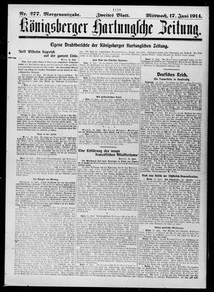 Königsberger Hartungsche Zeitung on Jun 17, 1914