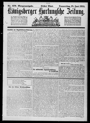 Königsberger Hartungsche Zeitung vom 18.06.1914