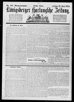 Königsberger Hartungsche Zeitung vom 19.06.1914