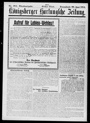 Königsberger Hartungsche Zeitung vom 20.06.1914