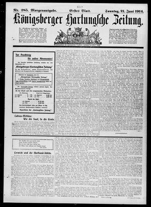 Königsberger Hartungsche Zeitung vom 21.06.1914