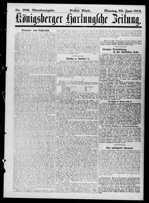Königsberger Hartungsche Zeitung vom 22.06.1914