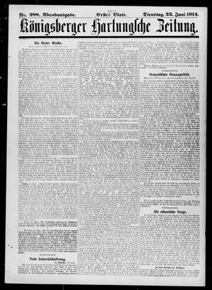 Königsberger Hartungsche Zeitung vom 23.06.1914